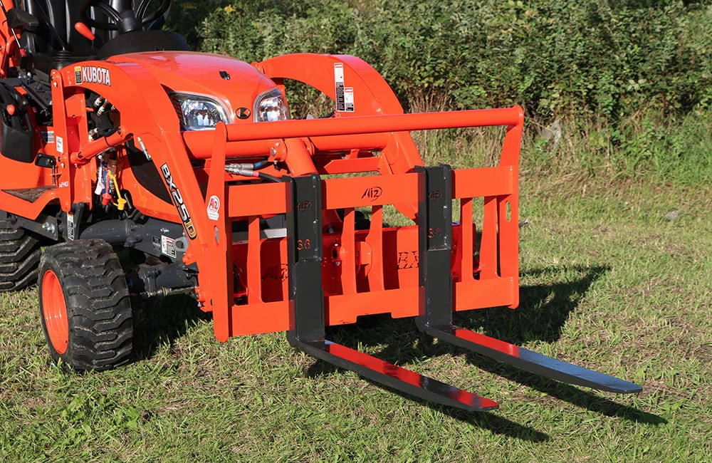 Kubota Tractor Loader Forklift : Kubota bx quot quick attach pallet forks attachments