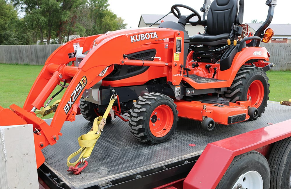 Kubota Mower Accessories : Kubota bx front tie down kit attachment bxattachments