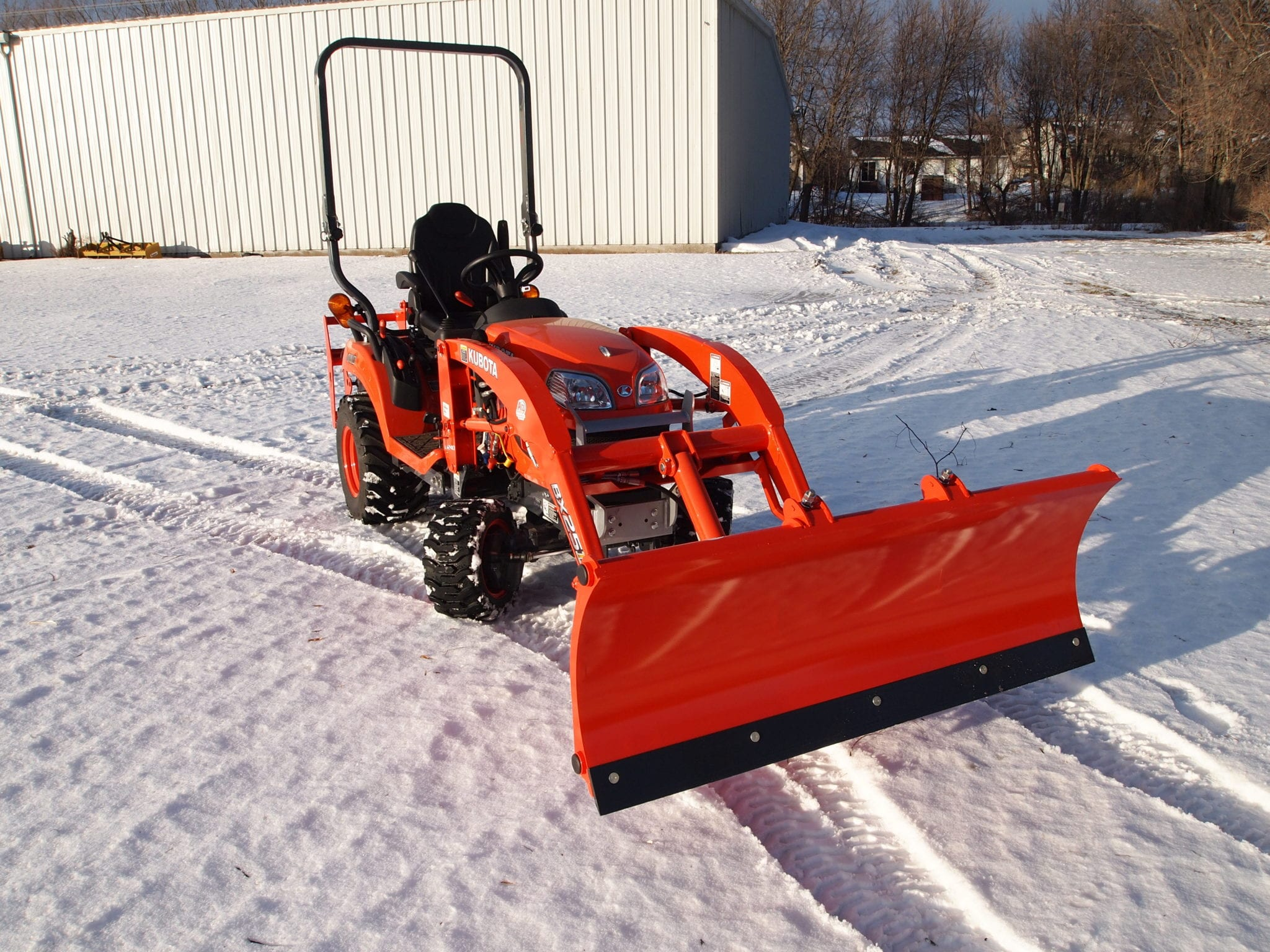 Tractor Loader Snow Plow Attachment : Kubota bx quick attach snow plow attachments