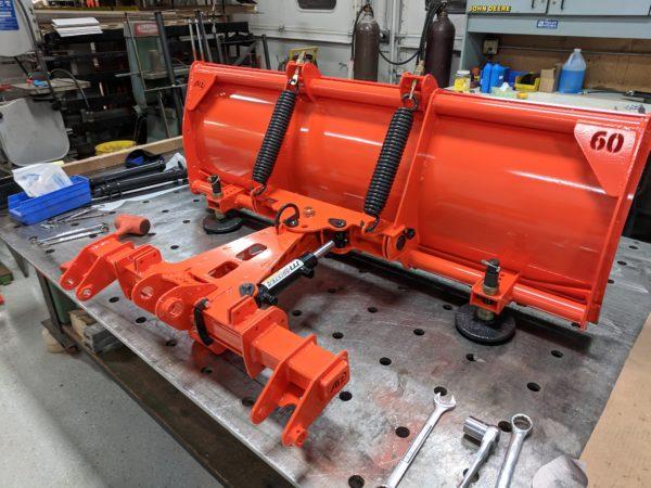 Kubota loader mounted plow